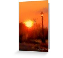Sunset By Street Light Greeting Card