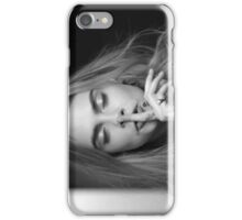 Cara Delevingne (eyes closed) iPhone Case/Skin