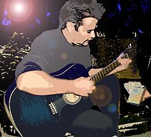 On His Blue Guitar by Alison Pearce
