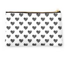 Black scribbled hearts Studio Pouch