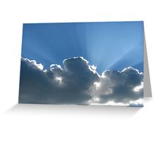 Rays Over Clouds Greeting Card