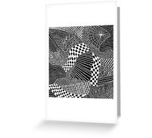 Widow's Web Black Greeting Card