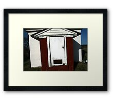 White Door Barn, Boston Framed Print