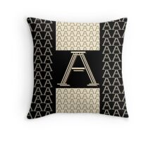 Metropolitan Park 1920s Art Deco monogram letter initial A Throw Pillow