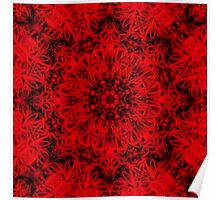 Red Gothic Fleur Poster