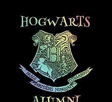 Hogwarts Alumni, Rainbow Crest, Harry Potter,  by NerdGirlTees