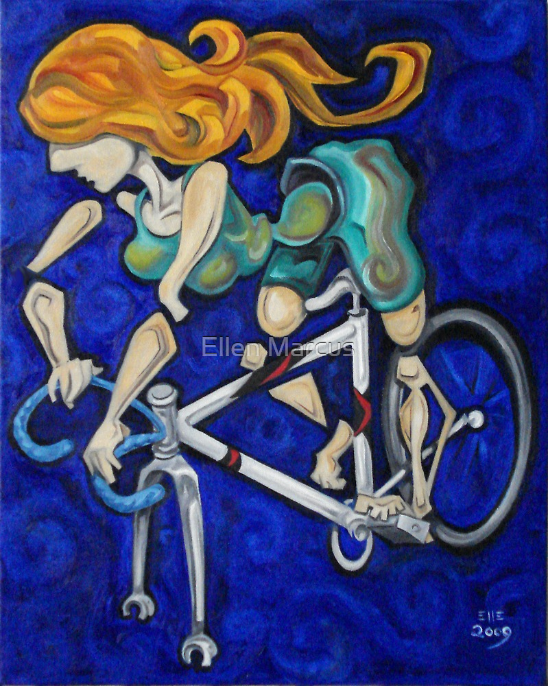 Bicycle Woman by Ellen Marcus