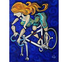 Bicycle Woman Photographic Print