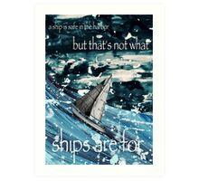A Ship in Harbor Art Print
