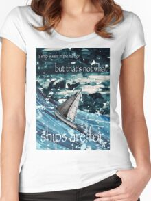 A Ship in Harbor Women's Fitted Scoop T-Shirt