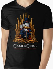 Game of Coins Mens V-Neck T-Shirt