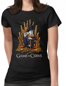 Game of Coins Womens Fitted T-Shirt