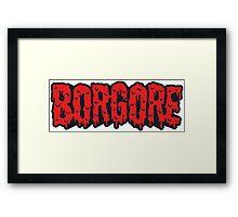 Borgore Logo Blood Framed Print