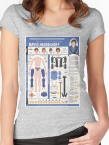 poseable david hasselhoff Women's Fitted Scoop T-Shirt