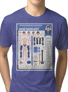 poseable david hasselhoff Tri-blend T-Shirt