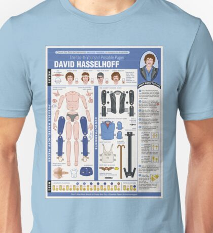 poseable david hasselhoff Unisex T-Shirt