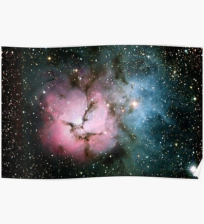 Galaxy nebula stars hipster star NASA science space photograph geeky geek gift Poster