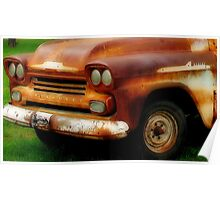 Rusted Chevrolet Apache Poster