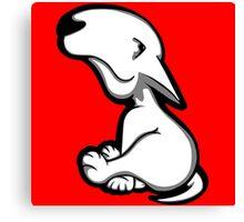 English Bull Terrier All Innocent  Canvas Print