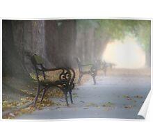 Lonley Bench Poster