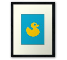 Floating Rubber Duck Framed Print