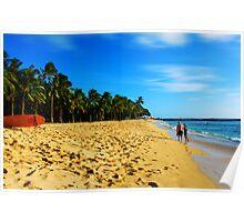 Surf Beach II(Couple) Poster