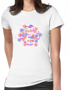 Happy Flower   T Shirt Womens Fitted T-Shirt