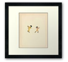 A Day in a Child's Life Myles Birket Foster and Kate Greenaway 1881 0031 Boy and Girl Framed Print