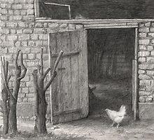 Little white hen by v0ff