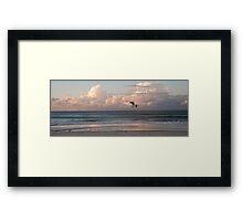 Six seagulls enjoy Kirra beach Framed Print