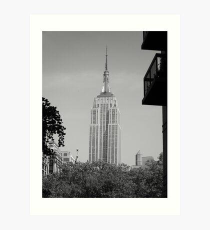 Classic empire state building Art Print