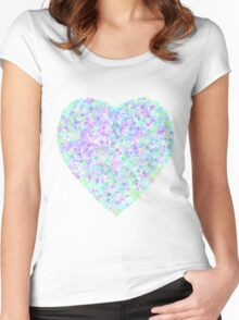 A Spring Time Heart Women's Fitted Scoop T-Shirt
