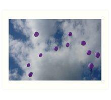 Purple Protest: Votes In The Sky Art Print