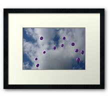 Purple Protest: Votes In The Sky Framed Print