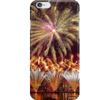 Fireworks over the Charles River.  iPhone Case/Skin