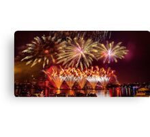 Fireworks over the Charles River.  Canvas Print
