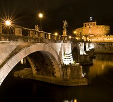 Castel Sant'Angelo by night, Rome, Italy by Fabio Catapane