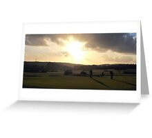 Day's End on The 18th Green Greeting Card