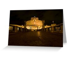 Castel Sant'Angelo by night, Rome, Italy Greeting Card