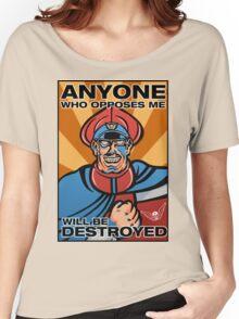 M. Bison Pop Art Street Fighter II Women's Relaxed Fit T-Shirt