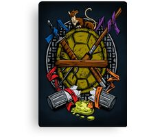Turtle Family Crest - Full Color Canvas Print