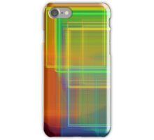 Computer Generated Abstract Squares Fractal Flame iPhone Case/Skin