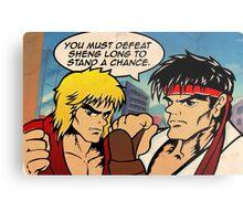 Street Fighter II Pop Art Ryu Ken Comic Shenglong Metal Print