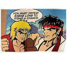 Street Fighter II Pop Art Ryu Ken Comic Shenglong Poster