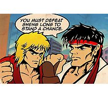 Street Fighter II Pop Art Ryu Ken Comic Shenglong Photographic Print