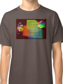 Computer Generated Abstract Squares Fractal Flame Classic T-Shirt