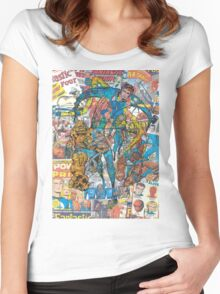 Vintage Comic Fantastic Four Women's Fitted Scoop T-Shirt