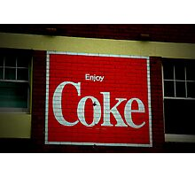 Enjoy Coke - Pyrmont Sydney Photographic Print