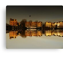 Reflections of Amsterdam - Golden City Canvas Print