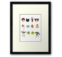 Dragon Racers Framed Print